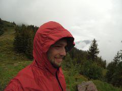 """OmniSmock Kapuze mit Drawcord und """"Dach"""""""