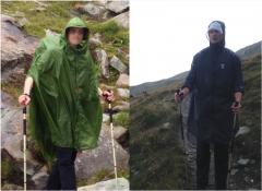 Poncho-Vergleich Gatewood Cape vs. Vertical Rucksackmantel