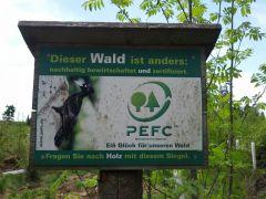 Der zertifizierte Wald hat jetzt endlich eine Daseinsberechtigung !