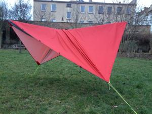 SnoozeToob Vario hammock + bug net + rainfly mode