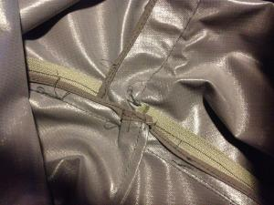 LifePants inseam zip construction inside view