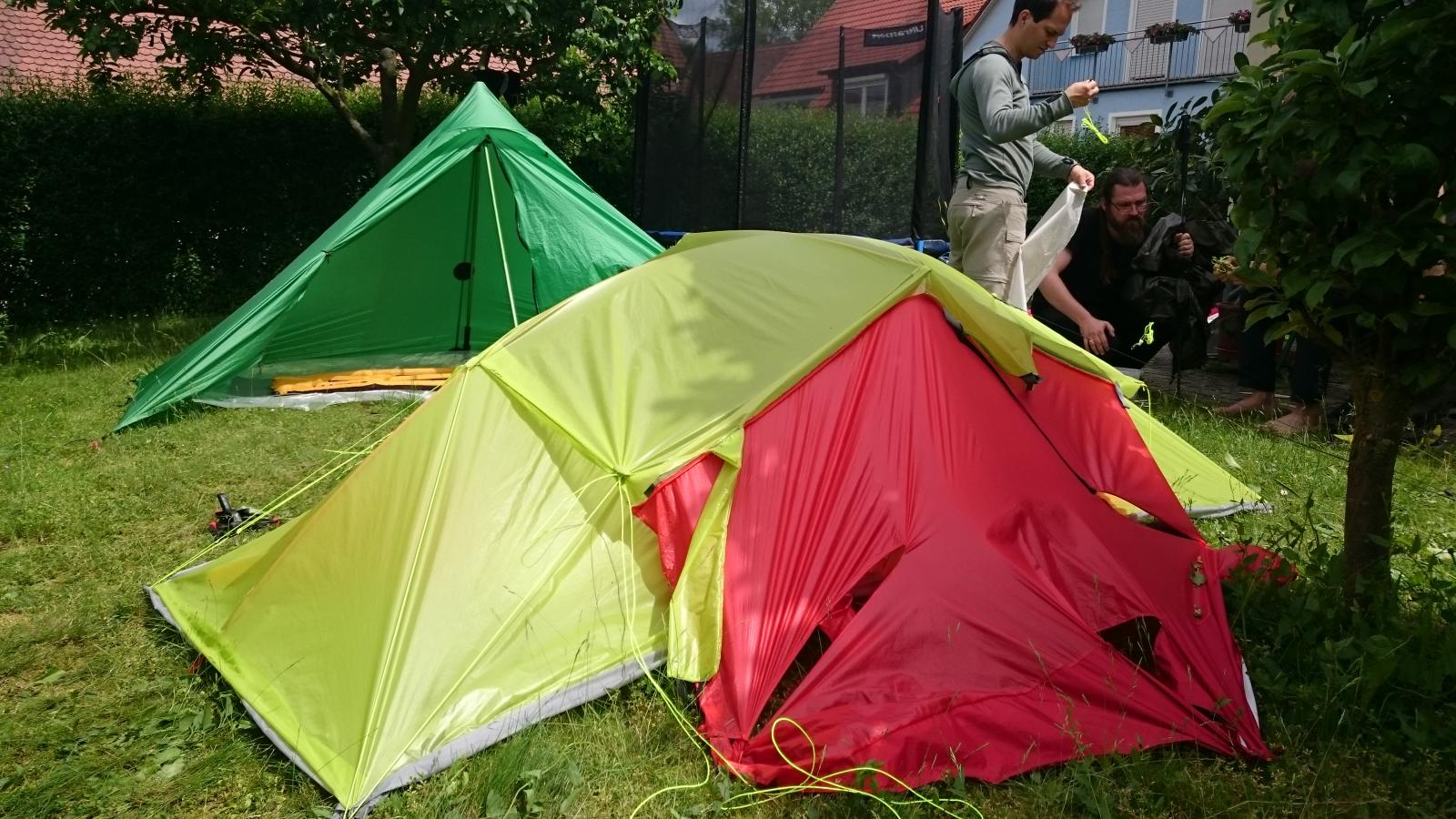 tied out modular tent
