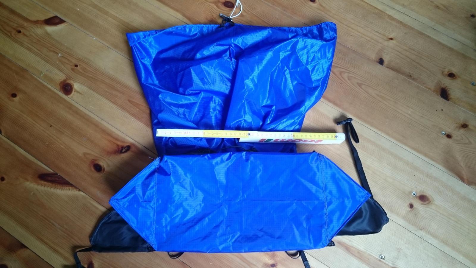 200g MYOG pack carry on size