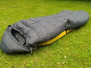 Schlafsack auf Isomatte