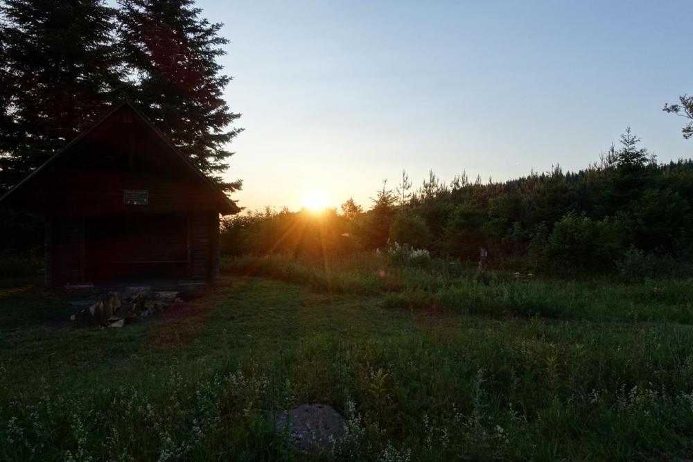 Sonnenuntergang bei der Langmartkopfhütte